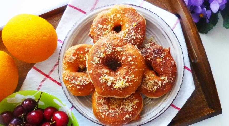 Пончики в пряном апельсиновом сахаре