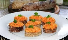 Закуска «морковь с сыром»