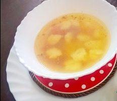 Суп картофельный с рисовыми клёцками