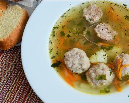 Суп с «ёжиками»