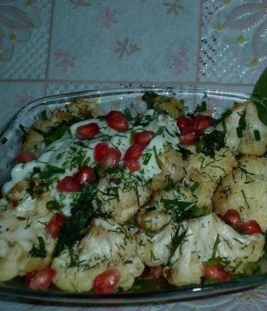 Салат «Новинка»с цветной капустой