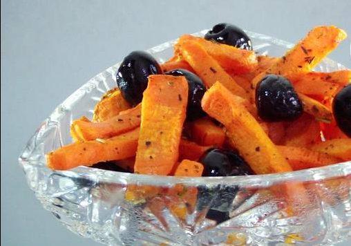 Закуска из моркови и маслин