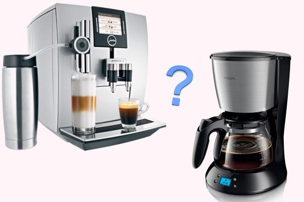 Чем кофемашина отличается от кофеварки?