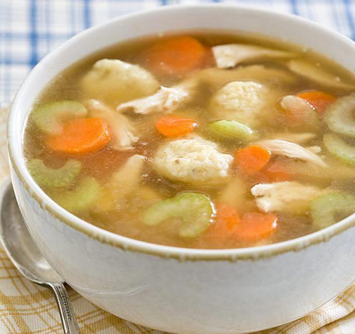 Суп с чесночными галушками