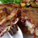 Картофельные котлеты с кровяной колбасой