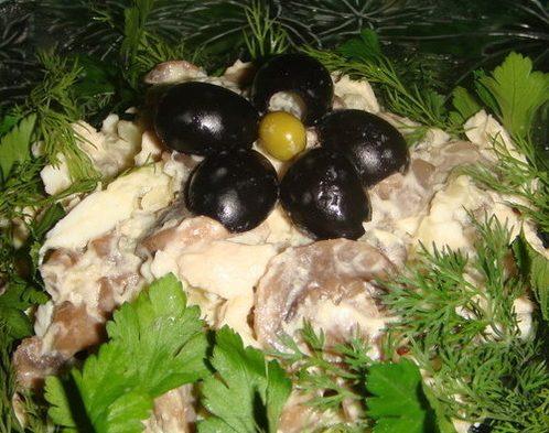 Салат Дубки (грибной)