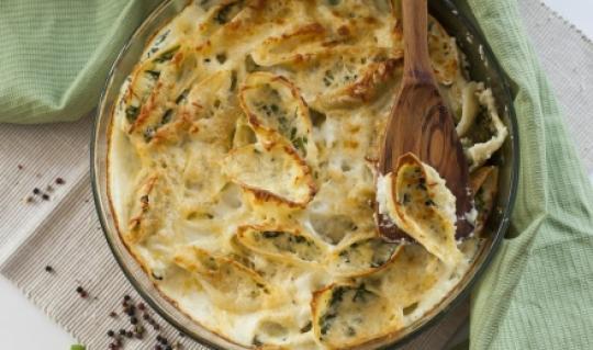 Весенние ракушки с начинкой из шпината