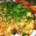 Отбивная из куриного филе с картофелем