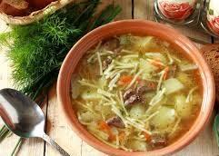 Суп с печенью и вермишелью, по-деревенски