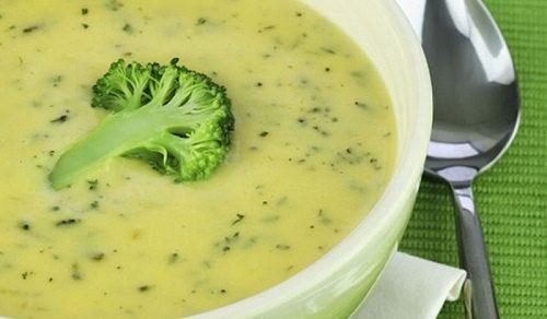Суп-пюре из цветной капусты с шампиньонами