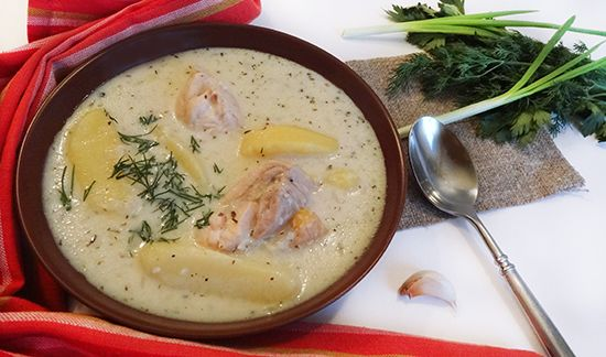 Суп «Лывжа» с курицей