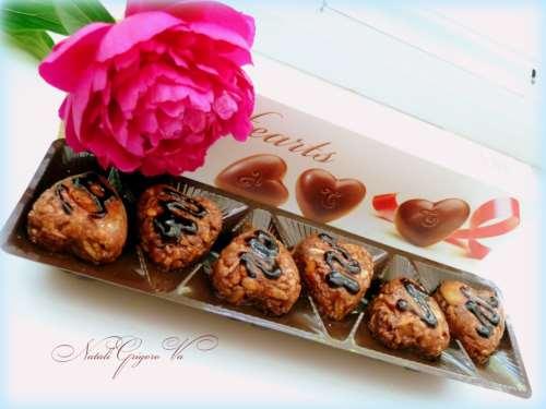 Шоколадные конфеты с овсяными хлопьями