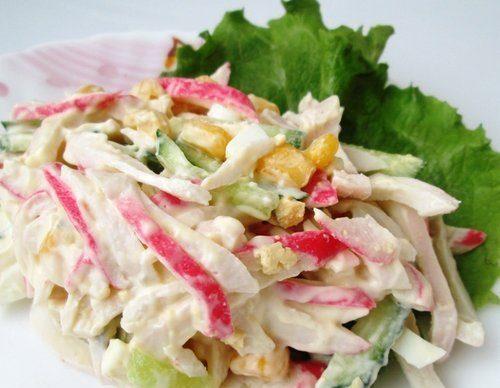 Салат с кальмарами «Морская свежесть»