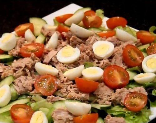 Салат с тунцом (Правильное питание)