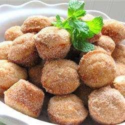 Пончики в формочках для кексиков