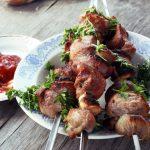 Рецепт шашлыка из свинины и маринованных овощей