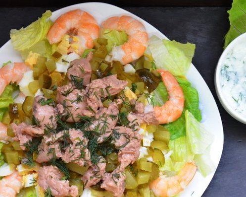 Салат с печенью трески «Потеряшка»