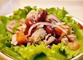 Салат фасолевый с мясом