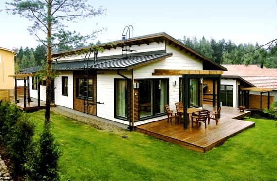 Строим финский дом из дерева