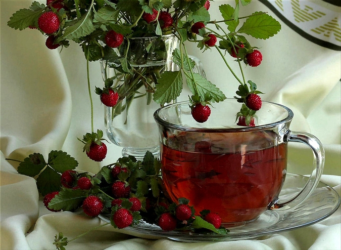 Земляничный чай для сердца