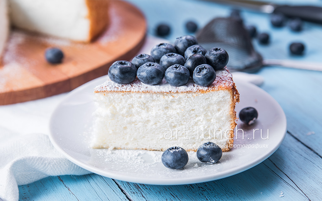 Белоснежный бисквит на белках