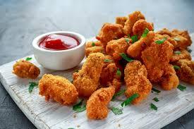 Наггетсы куриные с кисло-сладким соусом