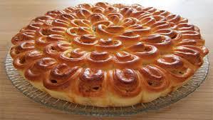 Картофельно-грибной пирог «Хризантема»