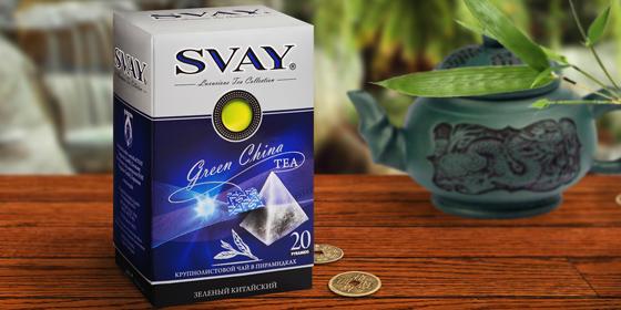 Оттенки вкуса зеленого чая Svay