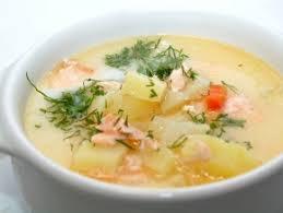 Суп из семги по-шведски