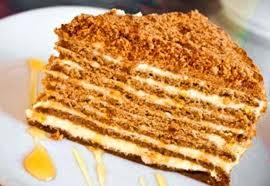 Торт Медовик классический со сметанным кремом