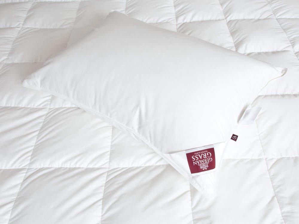 Пуховая подушка German Grass: особенности изделия и где приобрести в интернете?