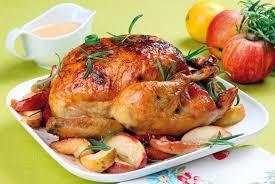 Запеченная курица с ароматным маслом
