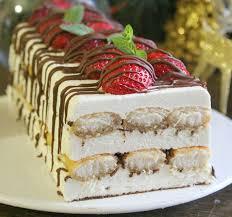 Рождественский торт без выпечки