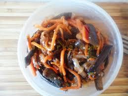 Салат из баклажана и морковки