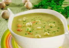 Кремовый куриный суп с цветной капустой