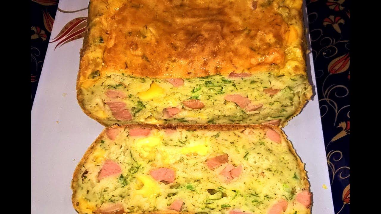 Рецепт кекса с сыром, салями и помидорами