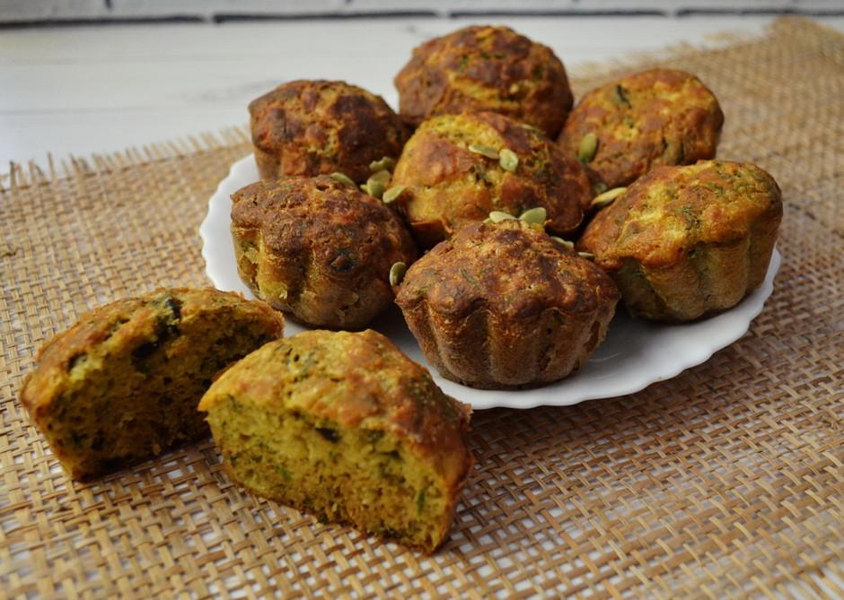 Сырные кексы с укропом и маслинами