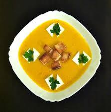 Тыквенный суп с фрикадельками из брынзы