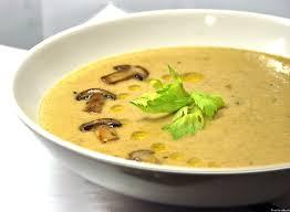 Суп-пюре с овощами и грибами