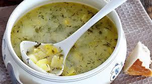 Суп из молодого картофеля с укропом