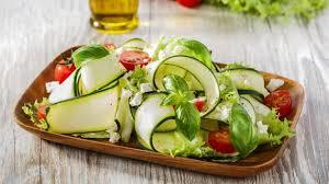 Салат из кабачков с помидорами, чесноком и кукурузой