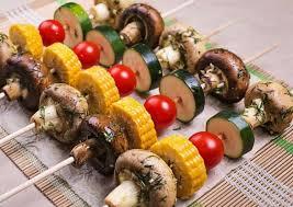 Овощные шашлычки