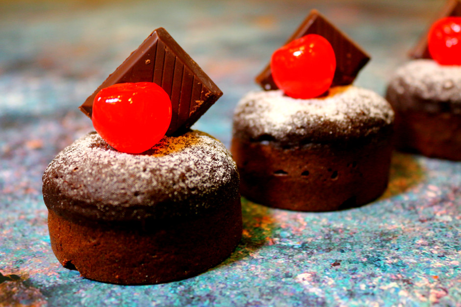 Шоколадные мини пироги