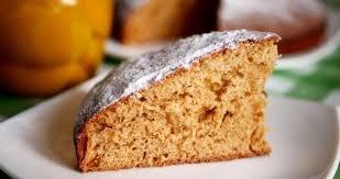 Постный пирог с апельсинами и курагой