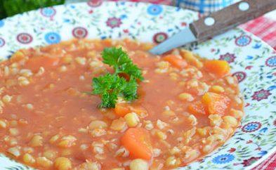 Гороховый суп, запеченный в духовке