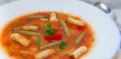 Суп с рисом и болгарским перцем