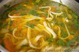 Кабачковый суп с домашней лапшой