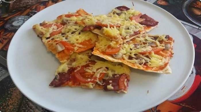 Рецепт пиццы на лаваше