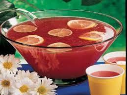 Пунш с виноградным соком и чаем