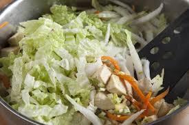 Лапша с зеленью и тофу